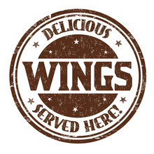 Delicious Wings Sign Or Stamp