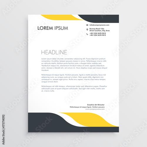 Fototapeta creative letterhead design template vector obraz