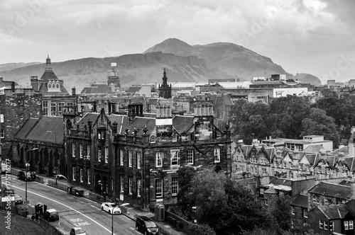 Obraz na dibondzie (fotoboard) Widok z lotu ptaka dziejowa część w Edynburg, Szkocja