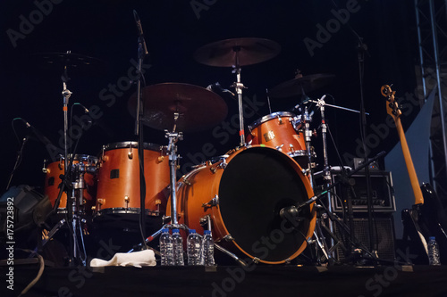 Canvas Prints Flame audio stage drums