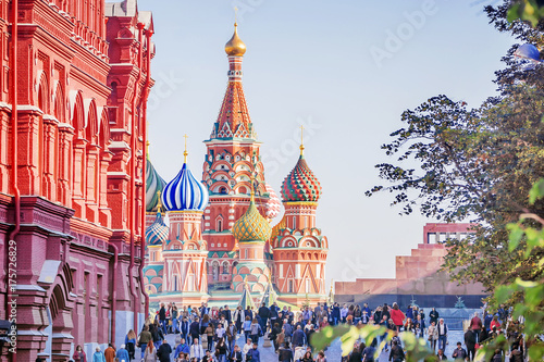 Fotografía  St. Basil's Cathedral in Moscow, Russia