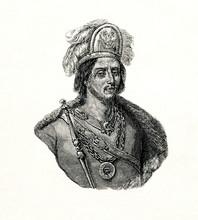 Moctezuma II, Ruler Of Tenochtitlan (from Spamers Illustrierte Weltgeschichte, 1894, 5[1], 82)