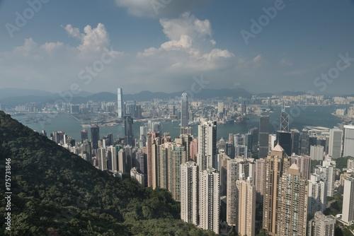Obraz na dibondzie (fotoboard) Skyline z Hongkongu