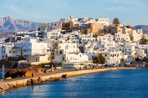 Платно Naxos island aerial view