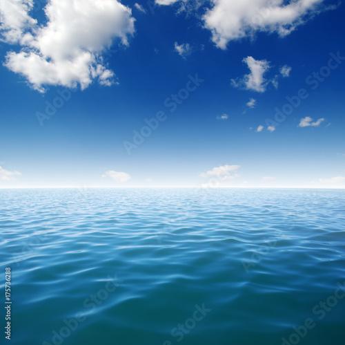 Poster Mer / Ocean Blue sea water surface