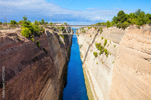 Corinth Canal in Greece Fototapet