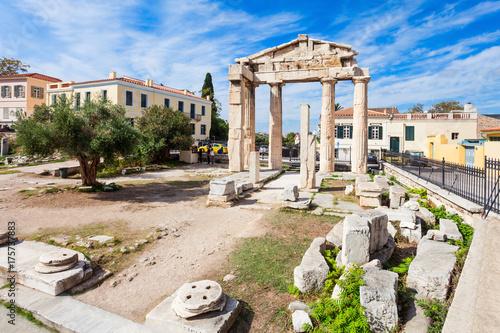 Plakat Brama Ateny, rzymska agora