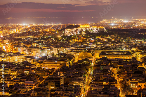 Fototapeta Ateny lotnicze panoramiczny widok