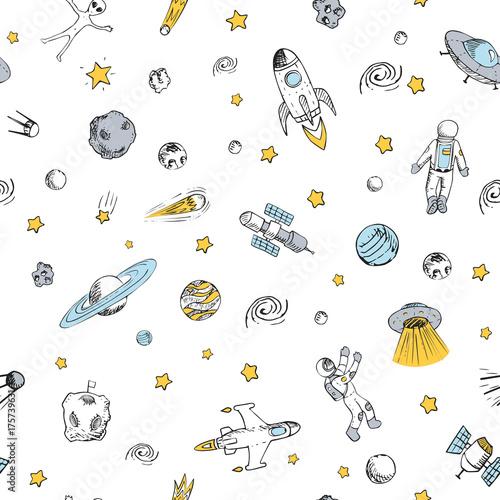 wzor-z-obiektami-kosmicznymi