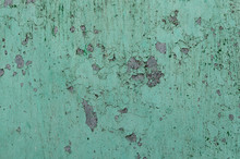 Close Up Peeling Paint On A Co...