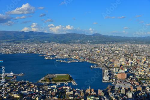 Fotobehang Natuur Park Aerial view of Hakodate City, Hokkaido, Japan