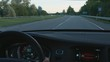 90 km/h driving car in the 90 kph limit zone interior wide shot