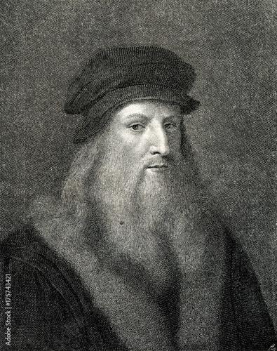 Fényképezés Self portrait of Leonardo da Vinci, Italian Renaissance polymath (from Spamers I