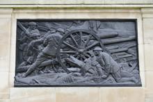 WW1 Memorial Scene London.