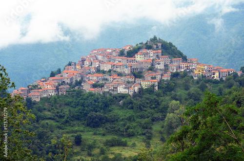 Deurstickers Toscane Village of Montefegatasi, Italy