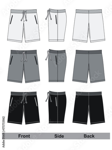 shorts black and white vector Canvas-taulu