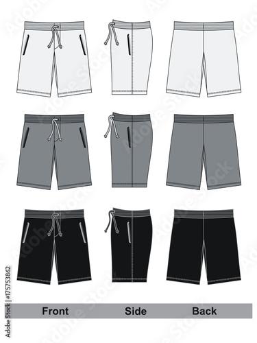 Obraz shorts black and white vector - fototapety do salonu