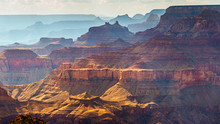 Grand Canyon South Rim As Seen From  Desert View, Arizona, USA