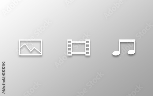 Fototapeta Multimedia icons obraz