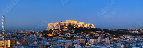 Printed kitchen splashbacks Athens Athens skyline rooftop night