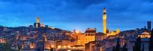 Siena Panorama View At Night