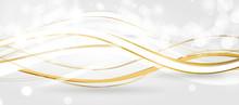 Welle Wellen Hintergrund Gold ...