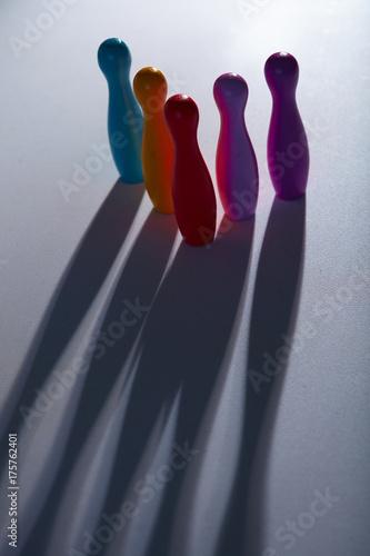 Colorful plastic skittles Poster Mural XXL
