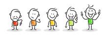 Strichfiguren / Strichmännchen: . Smiley, Bewertung, Ampel. (Nr. 112)