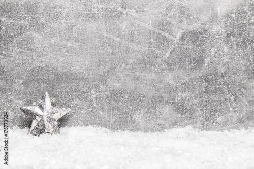 Fotobehang Vlinders in Grunge Christmas greeting card. Noel festive background. New year symbol. Christmas story theme. Festive background with copy space.