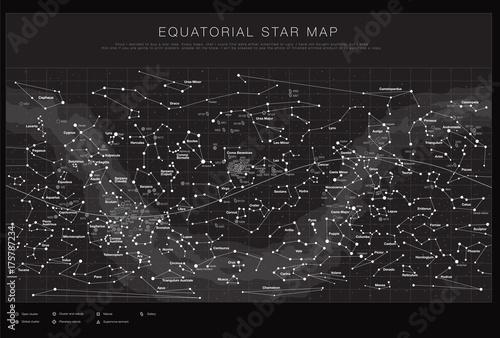 Zdjęcie XXL Zestaw wysokiej szczegółowe mapy nieba