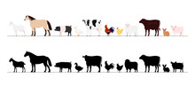 Farm Animals Border Set
