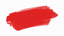 Abstract Red Paint On The White Background