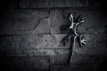 Metal Lizard On The Wall
