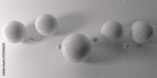 Abstract 3d shapes on background. 3d image. 3d rendering. - 175804243