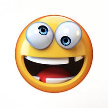 Crazy Emoji Isolated On White ...