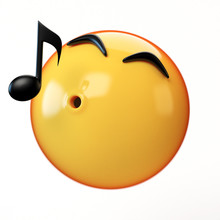 Whistling Emoji Isolated On Wh...