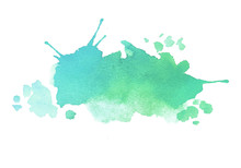 Blue Green Watercolor Splash V...