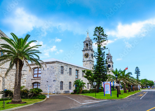 Photo Two Clock Towers on Old Naval Dockyard
