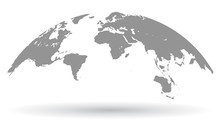 Black World Map Globe Isolated - Vector