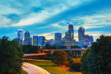 Overview Of Downtown Charlotte...