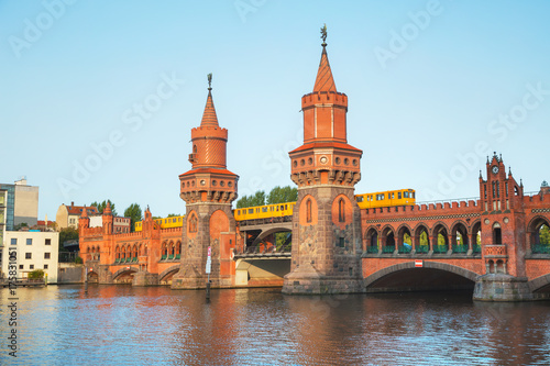 Obraz na dibondzie (fotoboard) Most Oberbaum w Berlinie