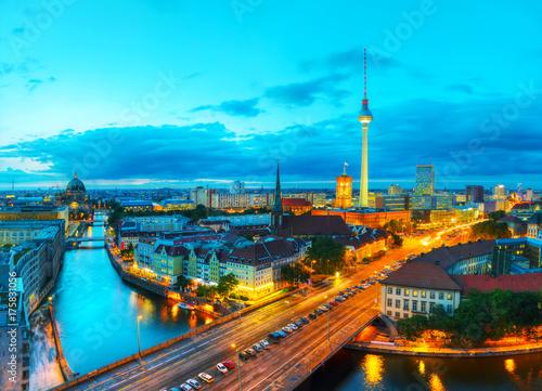 Plakat Widok z lotu ptaka Berlina