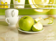 Apples on kitchen's table