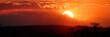 canvas print picture - Sonnenuntergang im Tarangiri Nationalpark, Tansania, Ostafrika, Panoramaaufnahme