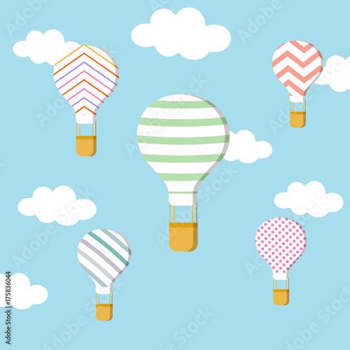 Plakat zestaw balonów powietrznych