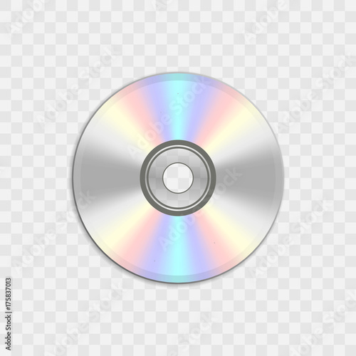 Fotomural  Realistic compact CD or DVD disc.
