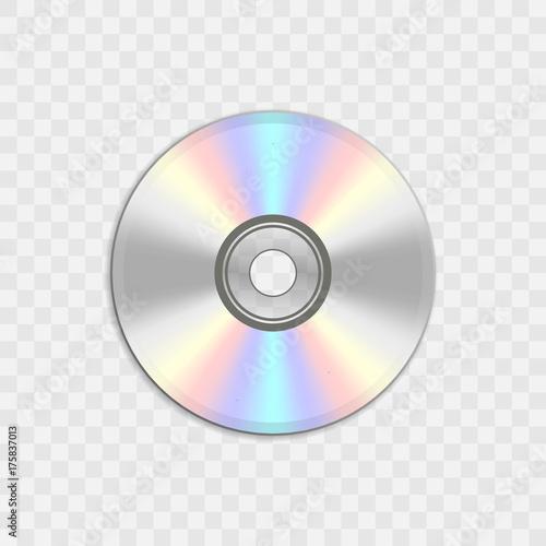 Cuadros en Lienzo Realistic compact CD or DVD disc.