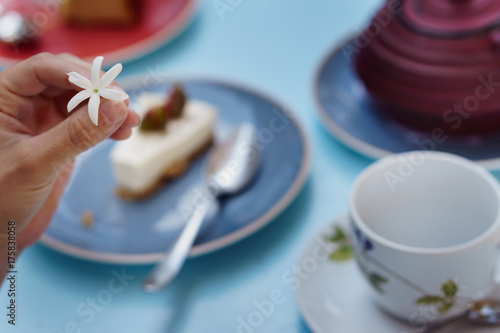 Photo Tranquilidad durante la hora del té.
