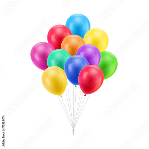 Cuadros en Lienzo Bundle colored balloons isolated