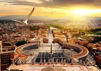 Panel Szklany Miasta Panoramic view of Vatican